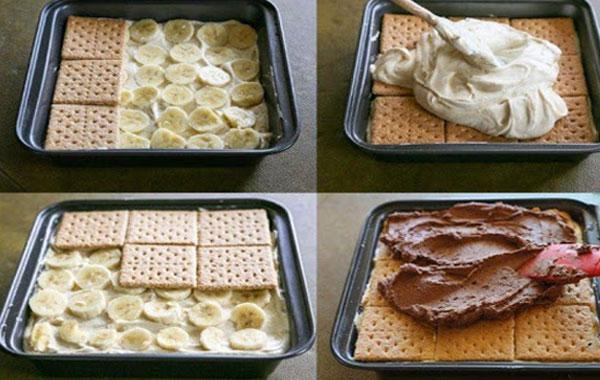 طرز تهیه کیک یخچالی ساده و خوشمزه