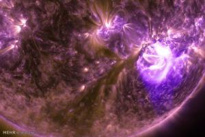 عکس/ صحنه هایی بکر از طوفان های خورشیدی