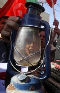 عکس/ اعتراضات به قطع مکرر برق در غزه