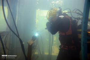 جوشکاری زیر آب در مسابقات نظامی نوشهر