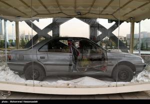 عکس/ خودروی منفجر شده شهید «احمدی روشن» و دکتر «فریدون عباسی»