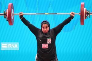 عکس/ پریسا جهانفکریان نفر ششم مسابقات وزنهبرداری زنان جهان
