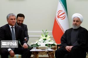 دیدار رئیس دومای دولتی فدراسیون روسیه با رئیس جمهور