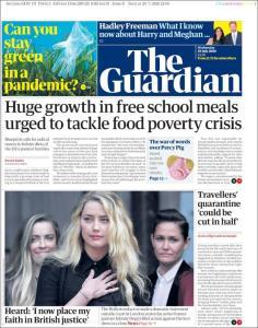 صفحه اول روزنامه گاردین/ هرد: من به دادگاه بریتانیا اعتماد می کنم