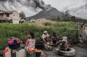 زندگی در کنار آتشفشان فعال
