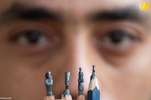 تندیس فراعنه مصر روی نوک مداد!