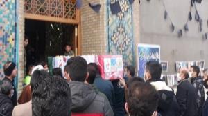 تشییع پیکر شهید مرزبانی ناجا در قزوین
