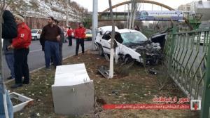 وقوع سانحه رانندگی در خیابان شهید شفیع زاده تبریز