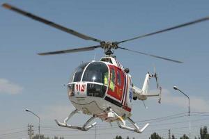 پرواز بالگرد اورژانس برای نجات نوجوان جهرمی