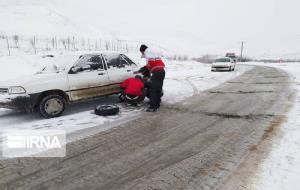 برف، جاده اشنویه- ارومیه را بست