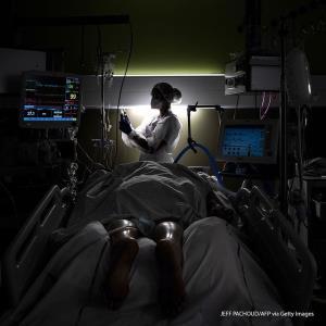 بخش بیماران کرونا در بیمارستان فرانسه