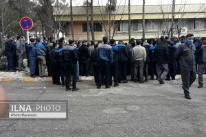 هشتمین روز از تجمع کارگران لاستیک پارس ساوه