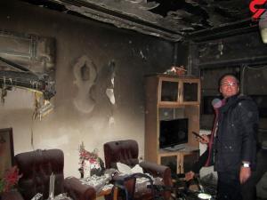 شعله های آتش منزل، ۵ نفر را در رشت گرفتار کرد