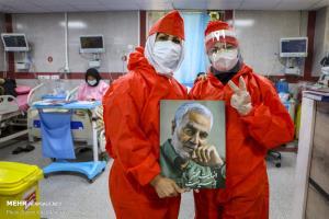 عکس/ سال نو با مدافعان سلامت در بیمارستان رازی اهواز