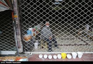 عکس/ تعطیلی بازار گرگان در پیک چهارم کرونا