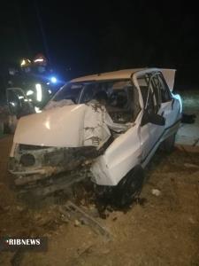 مصدومشدن زوج جوان در حادثه رانندگی در شیراز