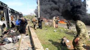 عکس/ جنایت تروریستی با حمایت ناتو در سوریه!