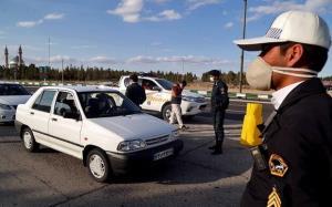 جریمه ۱۳۲۳ خودرو در محدودیتهای کرونایی استان قزوین