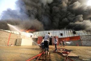 آتشسوزی در کارگاه صنعتی واقع در منطقه خاوران