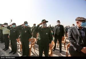 عکس/ احترام نظامی فرماندهان به پیکر مطهر سردار شهید سیدمحمد حجازی