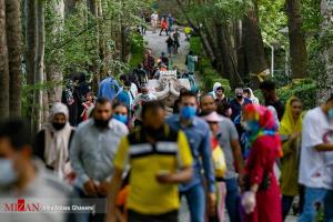 عکس/ شلوغی پارک جمشیدیه در پیک چهارم کرونا در تهران