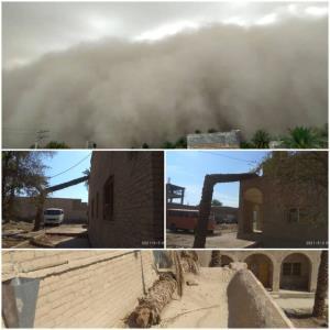 آسیب توفان و بارندگی به بناهای تاریخی ایرانشهر