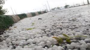 تصاویر/ بارش تگرگ در قم