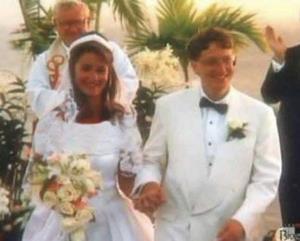 قدیمیترین عکس از ازدواج بیل گیتس و همسرش