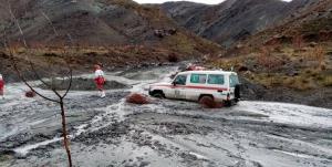 ۷ معدنچی گرفتار شده در سیل روداب سبزوار نجات یافتند