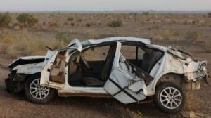 واژگونی خودروی سمند در گناباد یک کشته برجای گذاشت