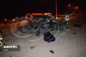 فوت ۲ نفر از ساکنان جزیره کیش در سانحه دلخراش رانندگی