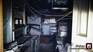 عکس/ آتشسوزی آشپزخانه یک رستوران در خیابان شهید بهشتی تهران