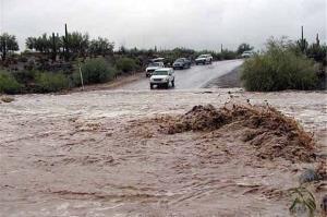 مسیر فنوج-اسپکه در جنوب سیستانوبلوچستان براثر سیلاب بسته شد