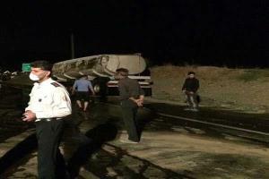 واژگونی تانکر حامل الکل در مسیر بویین زهرا-ساوه