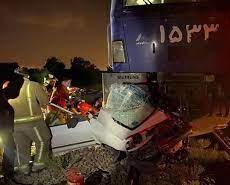 برخورد قطار با یک دستگاه خودرو سواری واقع در شهرری