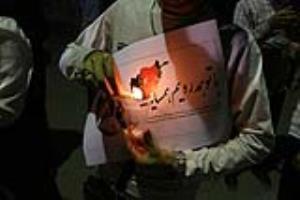 تجمع دانشجویان مشهدی در محکومیت حمله تروریستی کابل
