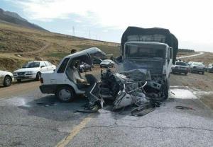 حادثه رانندگی محور جوانرود یک کشته و ۳ زخمی به جا گذاشت