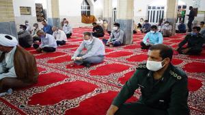 اقامه نماز عید فطر در فضای باز روبهروی مصلی دزفول