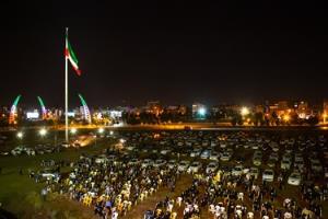 تصاویر/ مراسم باشکوه شب وداع در قزوین