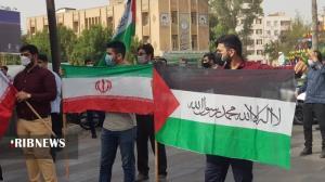 عکس/ محکومیت جنایات رژیم اشغالگر قدس در اهواز