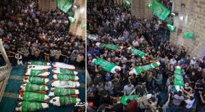 عکس/ تشییع شهدای حملات هوایی رژیم صهیونیستی در نوار غزه