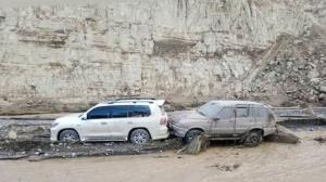 آبگرفتگی محور قدیم کاشان-نطنز