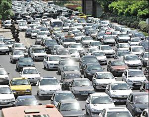 ترافیک پرحجم در مسیر مشهد - چناران