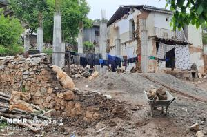 بیشتر خانههای خشتی و گلی مناطق زلزلهزده خراسان شمالی تخریب شدند