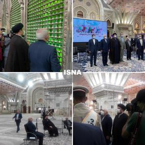 عکس/ حضور ظریف در حرم مطهر امام خمینی (ره)