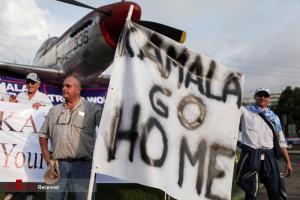 اعتراض مردم گواتمالا به سفر کامالا هریس