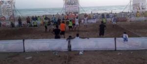 مسابقات هندبال ساحلی باشگاههای کشور در گناوه آغاز شد