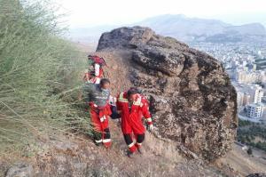 نجات جان ۴ کوهنورد گرفتار در ارتفاعات «کان صیفی» ایلام