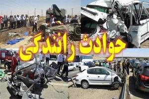 سقوط خودرو سمند از پل جادهای در حاجی آباد گرمسار
