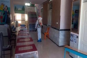 آغاز عملیات ضد عفونی شعب اخذ رأی در گرگان